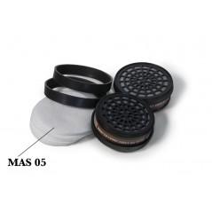 Cartouche anti-poussières pour masque de peinture P2