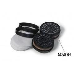 Cartouche anti-gaz A1 pour masque de peinture - Par 2