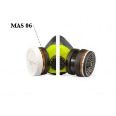Cartouche anti-gaz norme A1. Ce filtre est à changer après une utilisation de 40 heures ou après un mois.