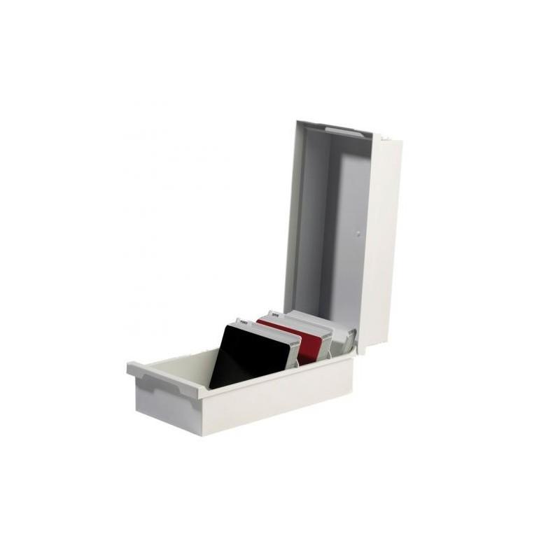 Solution de rangement pour plaquette test peinture en carrosserie.