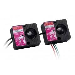 Appareil à ultrasons 2 haut-parleurs anti-fouine