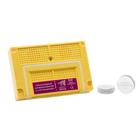 Solution anti martre avec piles. Diffusion d'ultrasons pour apeurer les fouines.
