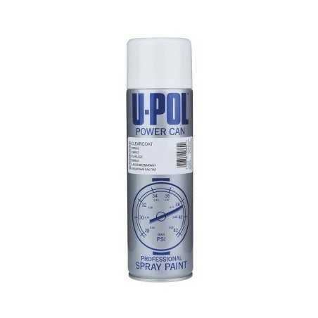 PEINTURE carrosserie BLANC BRILLANT AÉROSOL 500ml - UPOL-PCGW/AL POWER CAN