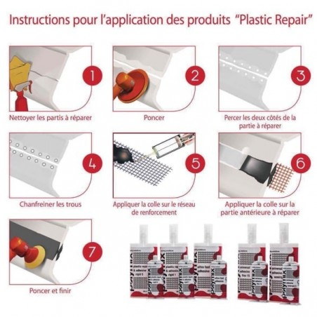 Colle 2K transparente ultra rapide 50 ml - Plastique