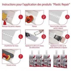 Démonstration utilisation de la colle 2K rigide grosse réparation plastique automobile POLYMIX