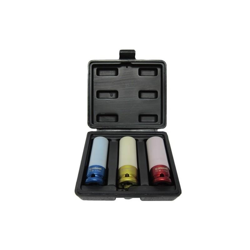 Coffret de 3 douilles pour clé à choc pneumatique - PREVOST TIW3S12