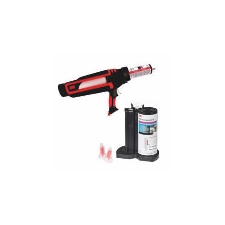 La solution complète pour appliquer le mastic polyster 3M au pistolet pneumatique. Gain de temps assuré.