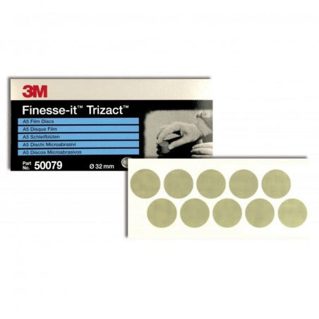 Petit disque abrasif 3M idéal pour les étapes de finition telles qu'éliminer les coulures ou poussières.