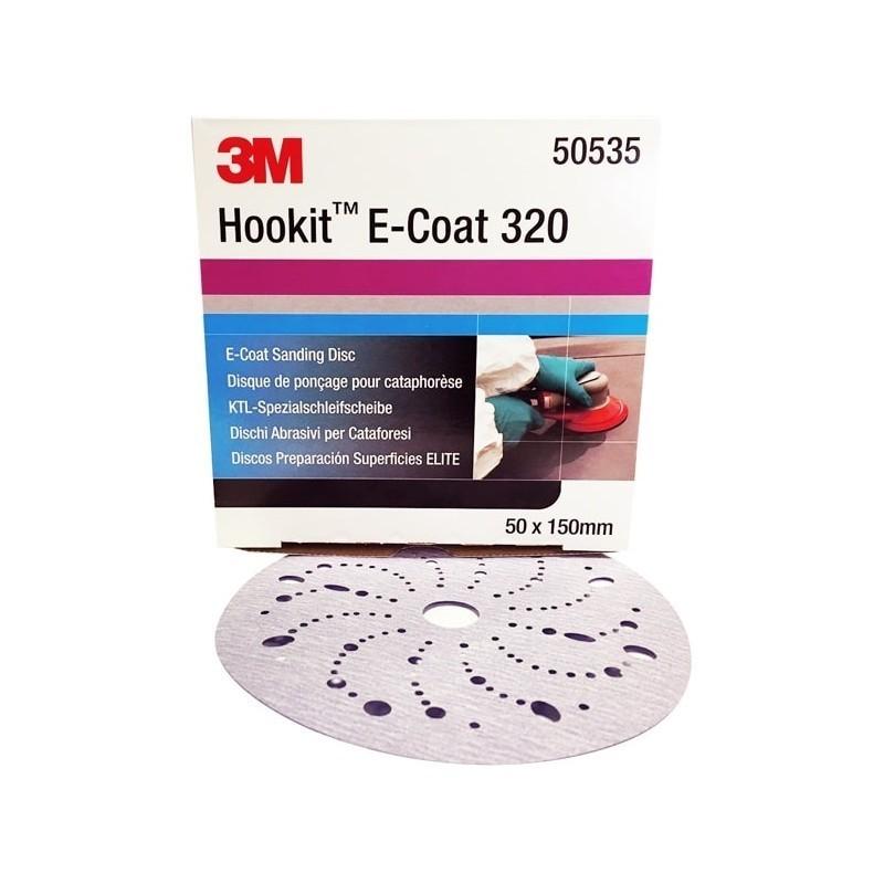 Disque abrasif pour couches de peinture neuves 3M pour réparation automobile.
