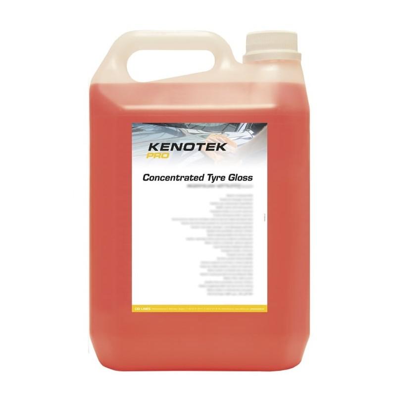 Kenotek Concentrated Tyre Gloss 5L. Rénover les pneus et plastiques voiture.