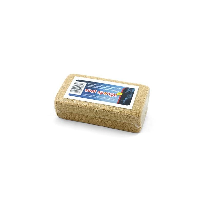 Éponge pour nettoyer facilement les traces de suie. À utiliser aussi à sec pour enlever la poussière.