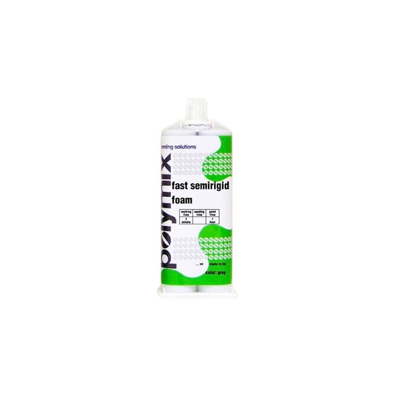 Mousse bicomposant faible densité (Souple) Gris - 60 min / 50 ml POLYMIX