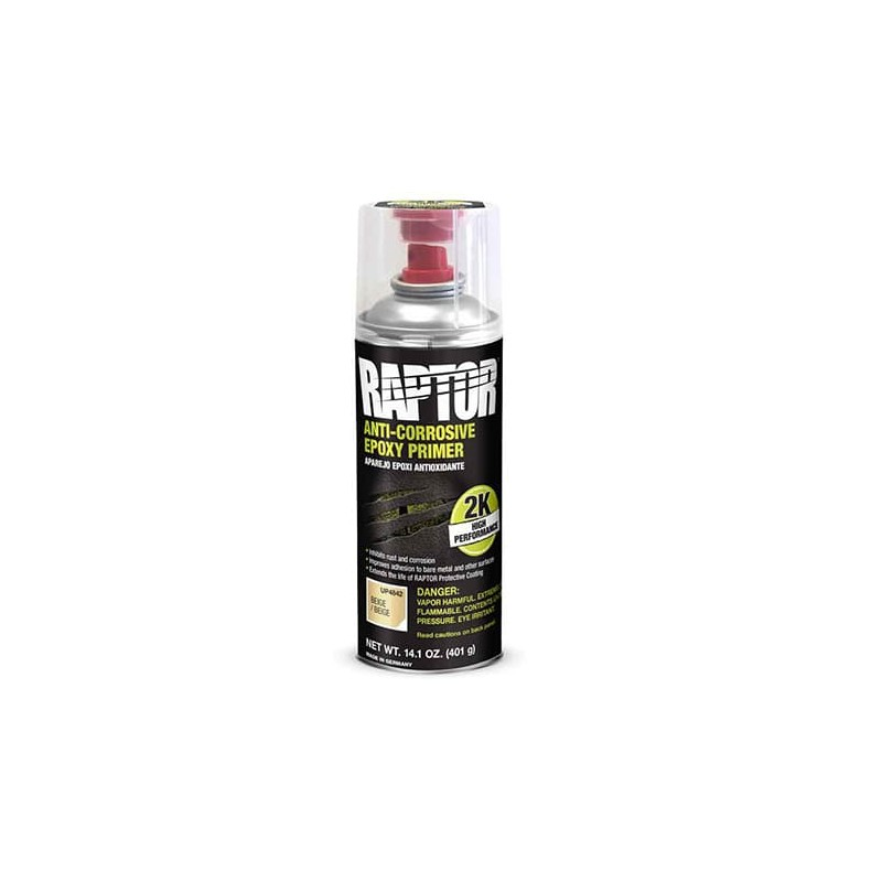 Apprêt époxy anti-rouille en spray 2K beige REP/AL 400 ml - UPOL RAPTOR