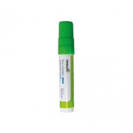 Marqueur vert fluo pointe épaisse pour réparation automobile.