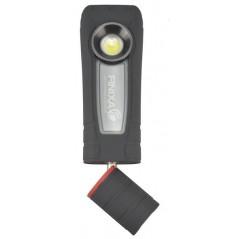 Lampe portative et rotative rechargeable pour contrôler les tests de peinture.