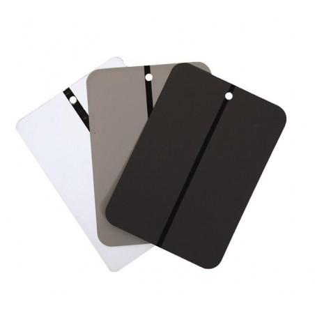 Plaquettes test peinture 100 pièces. En noir, gris ou blanc.