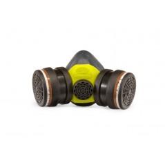 Masque de pistolage A2 P3 FINIXA MAS 20. Cartouche 2 en 1 comprenant le pré filtre et le filtre anti gaz.