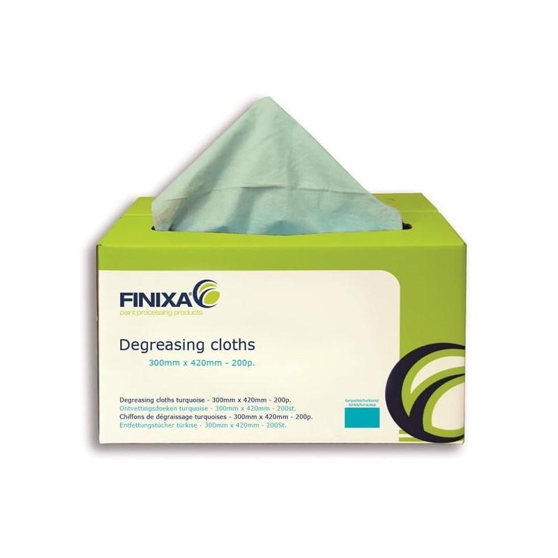 Chiffons de dégraissage bleu en boîte distributrice 330 x 420 mm - FINIXA SOF 20