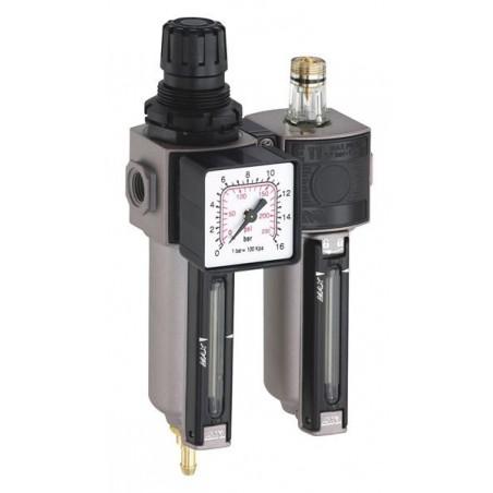 Filtre régulateur de pression modulaire à cuve métallique
