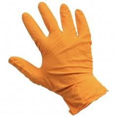 Gants Nitrile ORANGE   S   100 pcs