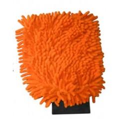 Côté face du gant orange auto. lavage et vitre.