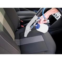 Extracteur pour pistolet de nettoyage à connecter à un aspirateur eau-poussière. Lavage des sièges auto très efficace.
