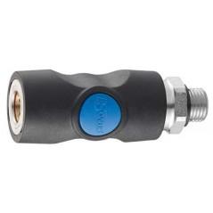 Raccord filete mâle cylindrique 1/4' 6 mm - PREVOST