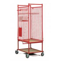 Chariot de stockage pour pièces en carrosserie.