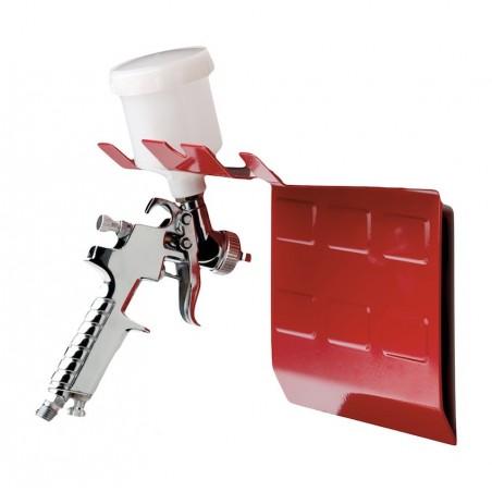 Support magnétique double pour pistolet peinture en carrosserie.