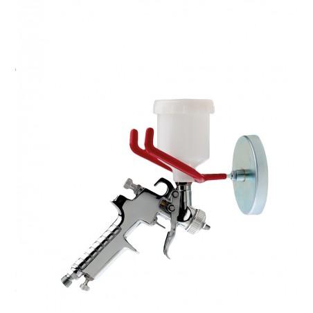 Support magnétique simple pour pistolet peinture en carrosserie.