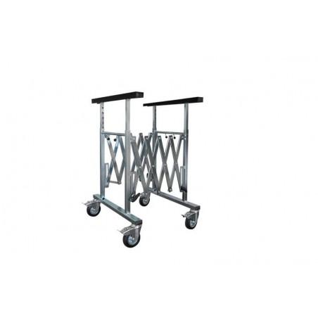 Tréteau extensible  multifonctions pour placer les éléments de carrosserie.