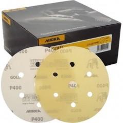 Disque abrasif 77 mm velcro 6 trous - MIRKA GOLD pour le spot repair en carrosserie.