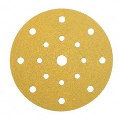 Disque abrasif 150 mm velcro 15 trous - MIRKA GOLD