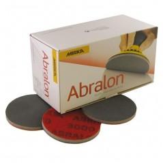 Disque abrasif 77 mm velcro - MIRKA ABRALON idéal  sur des petites surfaces à poncer.