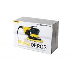 La ponceuse électrique MIRKA DEROS dispose d'un variateur de vitesse, est très compacte et facile à utiliser.