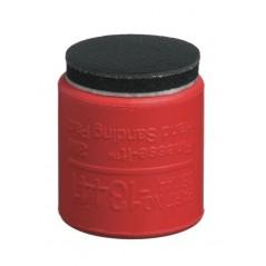 Bloc à poncer en caoutchouc 3M pour micro disque abrasif. Ponçage à l'eau en carrosserie.